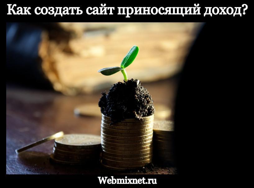 Как создать сайт приносящий доход