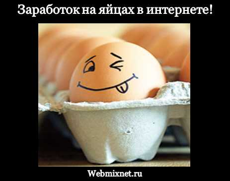 Заработок на яйцах в интернете