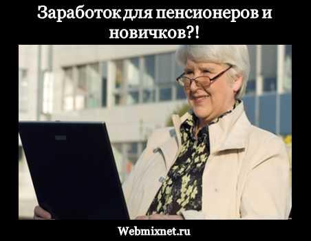 Заработок в интернете для пенсионеров и новичков без вложений