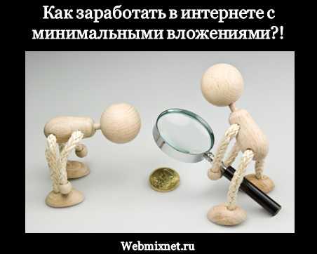 как заработать в интернете с минимальными вложениями максимум 50 рублей