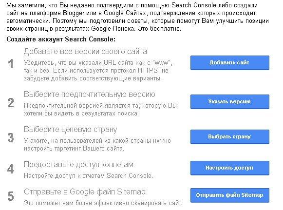 Раскрутка сайта в поисковой системе Google