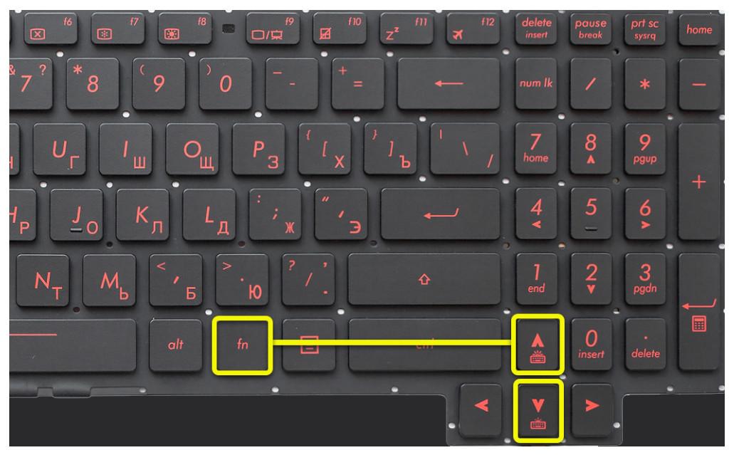 Асус клавиатура подсветки демонстрация