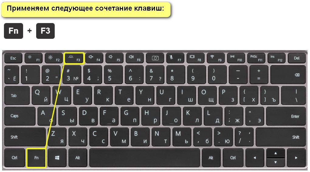 Сочетание клавиш для Huawei